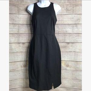Banana Republic Black Wrap Front Skirt Dress
